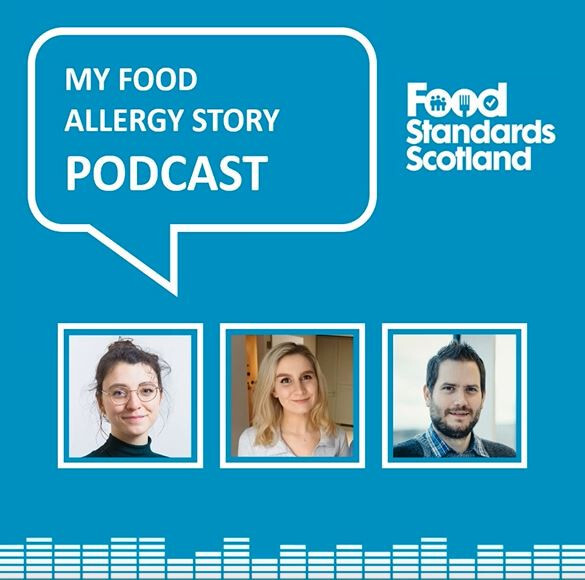 FSS podcast about food allergies images of hosts