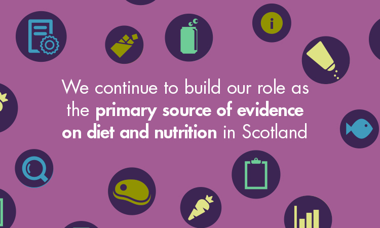 We continue to build our role as the primary source of evidence on diet and nutrition in Scotland