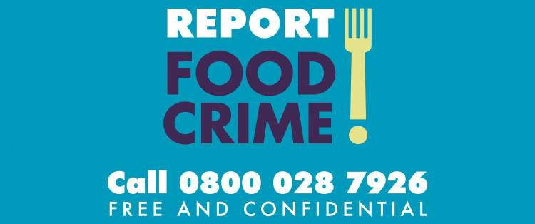 Report food crime phone number 0800 028 7926